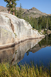 """""""Five Lakes 10"""" - Early morning photograph of one of the Five Lakes in the Tahoe area."""