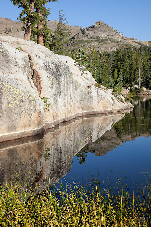 """Five Lakes 10"" - Early morning photograph of one of the Five Lakes in the Tahoe area."