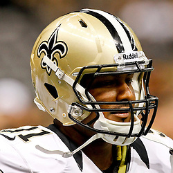 September 9, 2012; New Orleans, LA, USA; New Orleans Saints defensive end Will Smith (91) prior to kickoff of a game against the Washington Redskins at the Mercedes-Benz Superdome. Mandatory Credit: Derick E. Hingle-US PRESSWIRE