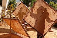 Making mulberry bark paper for parasols in Pindaya, Burma