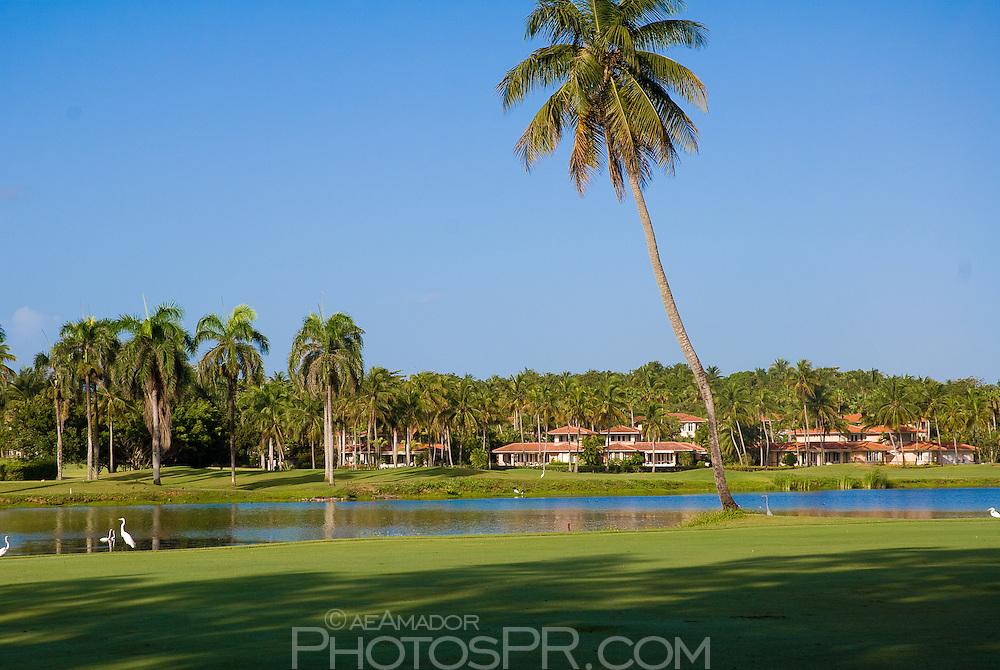 Views around the golf course; lagoon with villas