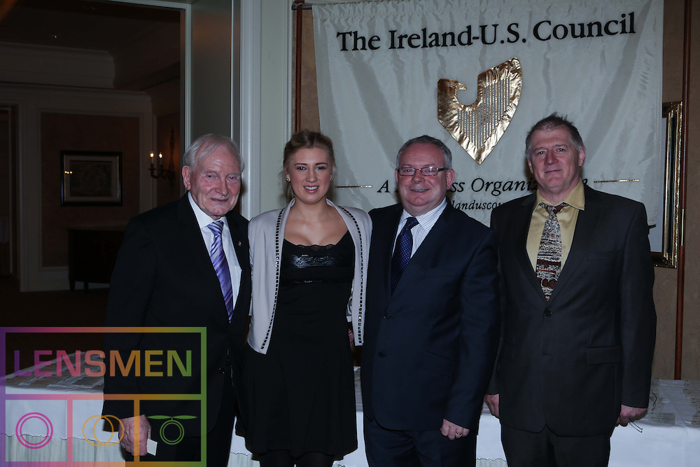 Pictured at (l-r) at The Ireland-U.S. Council was Roddy Feely, Lynn Brennan, Roddy Feely and Terry Brennan. Picture Lensmen.