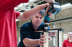 Instructor & prisoners working in the workshops, HMP Barlinnie, Glasgow