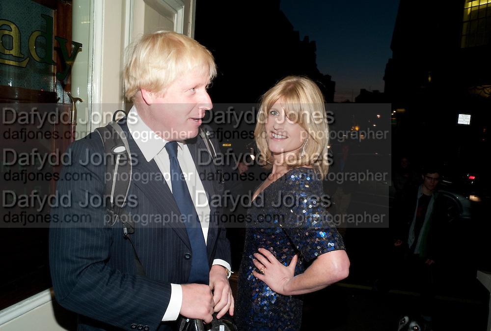 BORIS JOHNSON; RACHEL JOHNSON Rachel's Johnson's 'A Diary of the Lady'book launch at The Lady's offices. Covent Garden. London. 30 September 2010. -DO NOT ARCHIVE-© Copyright Photograph by Dafydd Jones. 248 Clapham Rd. London SW9 0PZ. Tel 0207 820 0771. www.dafjones.com.