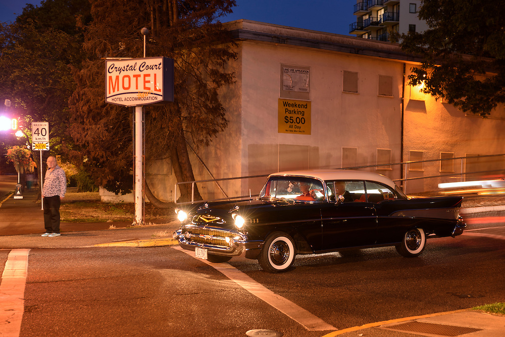 Canada, British Columbia, Vancouver Island, Victoria, Chevy on the road