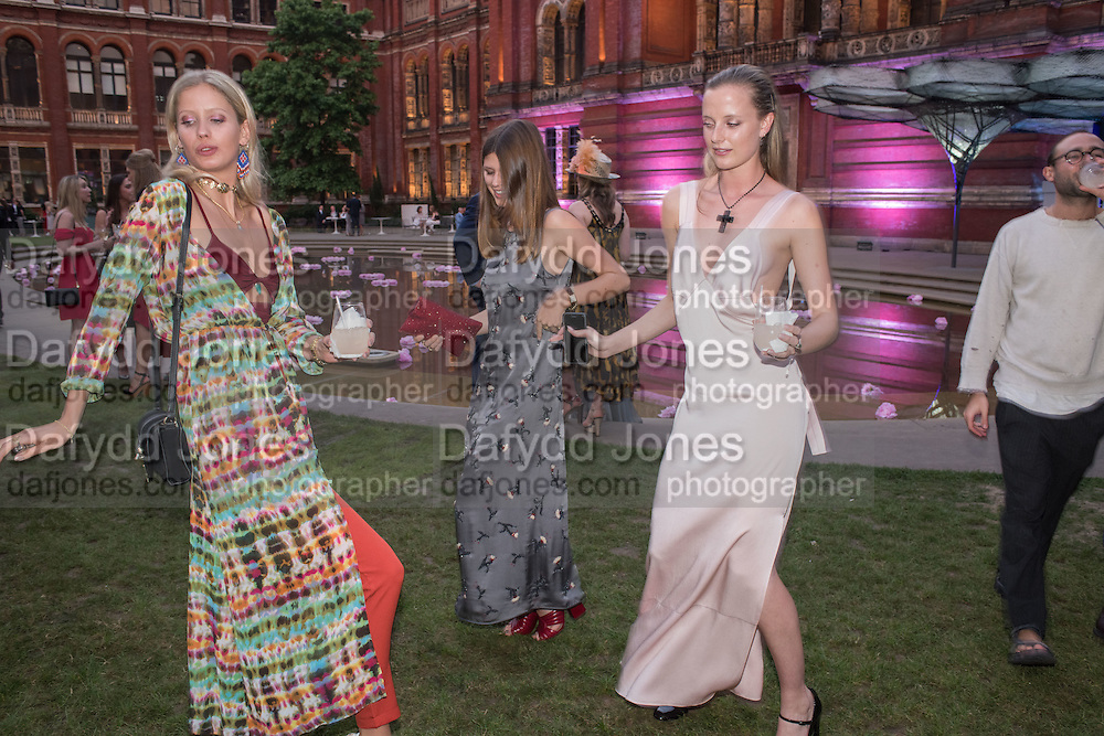 ANYA BARKER; CARINTHIA PEARSON; EMILY STEEL, V & A Summer party. South Kensington. London. 22 June 2016