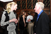 JADE PARFITT; PHILIP TREACY, London College of Fashion hosts party to celebrate the opening of Carmen: A Life in Fashion with guest of honour Carmen Dell'Orefice. Il Bottachio, Hyde Park Corner. London. 16 November 2011. <br /> <br />  , -DO NOT ARCHIVE-© Copyright Photograph by Dafydd Jones. 248 Clapham Rd. London SW9 0PZ. Tel 0207 820 0771. www.dafjones.com.