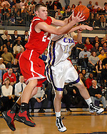5 FEB. 2010 -- TOWN AND COUNTRY, MO. --  Chaminade Pre's Luke Bumgarner (24) and CBC High School's Danny Chastain (13) battle for a loose ball during the game between CBC and Chaminade at CBC High School in Town and Country, Mo. Friday, Feb. 5, 2010. Photo (c) copyright by Sid Hastings.