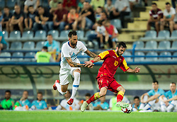 Amir Dervisevic of Slovenia vs Marko Jankovic of Montenegro during friendly football match between National Teams of Montenegro and Slovenia, on June 2, 2018 in Stadium Pod goricom, Podgorica, Montenegro. Photo by Vid Ponikvar / Sportida