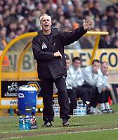 Photo: Kevin Poolman.<br />Wolverhampton Wanderers v Burnley. Coca Cola Championship. 17/02/2007. Wolves manager Mick McCarthy.