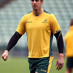 Dan Vickerman during the Team training - Australia,Wednesday 12 October 2011 Australia training session. North Harbour Stadium Stadium Drive Albany, Auckland.<br />  Photographer Steve Haag
