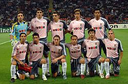 Benfica team photo. Benfica v AC Milan, Champions League, 18-09-2007