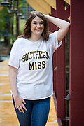 High school senior portrait of Callie Matthews in Abita Springs; photo ©2018, George H. Long
