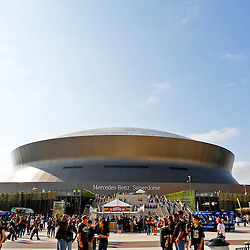 October 7, 2012; New Orleans, LA, USA; A general view from Champions Square as fans begin to arrive for a Sunday night game between the New Orleans Saints and the San Diego Chargers at the Mercedes-Benz Superdome. Mandatory Credit: Derick E. Hingle-US PRESSWIRE