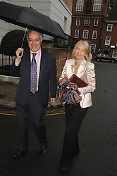 MICHAEL & SANDRA HOWARD at the annual Sir David & Lady Carina Frost Summer Party in Carlyle Square, London SW3 on 5th July 2007.<br />
