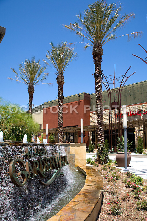 PF Chang's and McCormick & Schmick's Restaurant at the Anaheim Garden Walk in the Afternoon