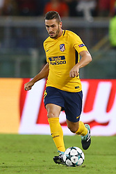 September 12, 2017 - Rome, Italy - Koke of Atletico  during the UEFA Champions League Group C football match between AS Roma and Atletico Madrid on September 12, 2017 at the Olympic stadium in Rome. (Credit Image: © Matteo Ciambelli/NurPhoto via ZUMA Press)