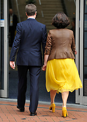 © Licensed to London News Pictures. 21/09/2011. BIRMINGHAM, UK. Deputy Prime Minister Nick Clegg and his wife Miriam arrive at the Liberal Democrat Conference at the Birmingham ICC today (21 Sept 2011): Stephen Simpson/LNP