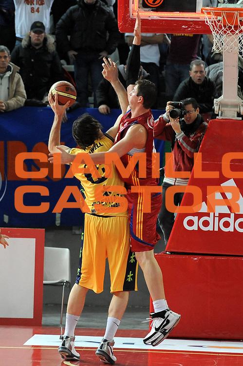DESCRIZIONE : Roma Lega A1 2008-09 Lottomatica Virtus Roma Premiata Montegranaro<br /> GIOCATORE : Primoz Brezec<br /> SQUADRA : Lottomatica Virtus Roma <br /> EVENTO : Campionato Lega A1 2008-2009<br /> GARA : Lottomatica Virtus Roma Premiata Montegranaro<br /> DATA : 28/12/2008<br /> CATEGORIA : Difesa<br /> SPORT : Pallacanestro <br /> AUTORE : Agenzia Ciamillo-Castoria/G.Ciamillo