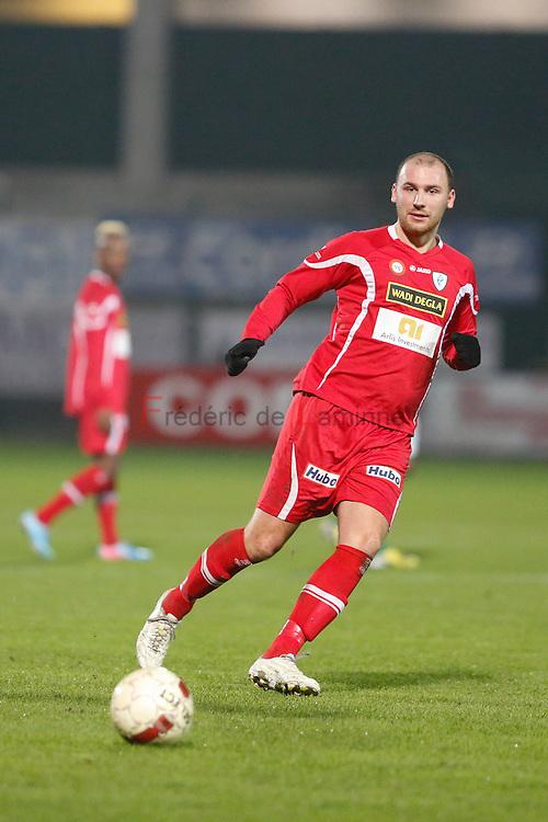 20141129 - La Louvière, Belgium : KV Turnhout's  Dino PELJTO (#7) during the 3rd division game betwen La Louvière and Turnhout on 29/11/2014 in La Louvière (Stade du Tivoli)
