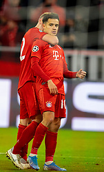 MUNICH, GERMANY - Wednesday, December 11, 2019: Bayern Munich's Philippe Coutinho Correia celebrates scoring the third goal during the final UEFA Champions League Group B match between FC Bayern München and Tottenham Hotspur FC at the Allianz Arena. (Pic by David Rawcliffe/Propaganda)