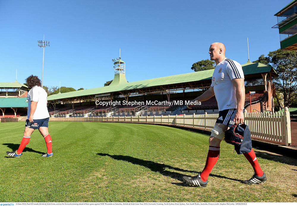 13 June 2013; Paul O'Connell, British & Irish Lions, arrives for forwards training ahead of their game against NSW Waratahs on Saturday. British & Irish Lions Tour 2013, Forwards Training, North Sydney Oval, Sydney, New South Wales, Australia. Picture credit: Stephen McCarthy / SPORTSFILE