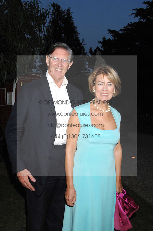 MR &amp; MRS BILL CASH MP at a party to celebrate the 100th issue of Waitrose's Food Illustrated magazine held at The Physic Garden, Chelsea, London on 13th September 2007.<br />