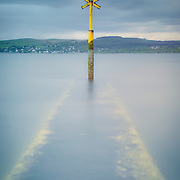 Shipping post from battery park, Gourock, Firth of Clyde, Inverclyde