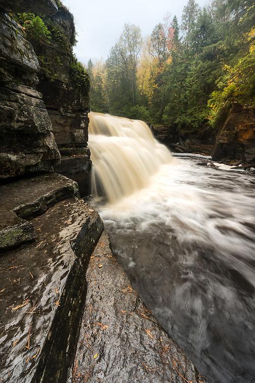 Canyon Falls after a heavy rain.  Michigan's Upper Peninsula