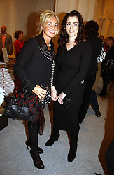 Left to right, AMANDA ELIASCH and NIGELLA LAWSON at a reception to celebrate the opening of 'USA Today' - an exhibition of work from The Saatchi Gallery held at The Royal Academy of Arts, Burlington Gardens, London on 5th September 2006.<br /><br />NON EXCLUSIVE - WORLD RIGHTS