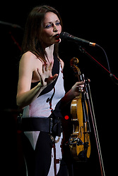 Singer Sharon Corr performs live in concert, Vector Arena, Auckland, New Zealand, Friday, February 03, 2012.  Credit:SNPA / David Rowland