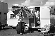 18/05/1966<br /> 05/18/1966<br /> 18 May 1966<br /> Coca-Cola girl with Esso Tigerman advertisement at Esso Belmont Service Station Sandford Road, Dublin.