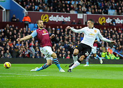 Manchester United's Robin van Persie Shoots  - Photo mandatory by-line: Joe Meredith/JMP - Mobile: 07966 386802 - 20/12/2014 - SPORT - football - Birmingham - Villa Park - Aston Villa v Manchester United - Barclays Premier League