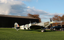 UK ENGLAND LONDON 2NOV17 - A Candian Air Force Spitfire fighter plane on display in Goodwood, Sussex, England.<br /> <br /> jre/Photo by Jiri Rezac<br /> <br /> &copy; Jiri Rezac 2017
