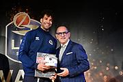 Crawford Andrew, Egidio Bianchi<br /> LBA AWORDS 2018/19<br /> Basket Serie A LBA 2018/2019<br /> Premiazioni Sala Buzzati - Rcs<br /> Milano 13 May 2019<br /> Foto Mattia Ozbot / Ciamillo-Castoria