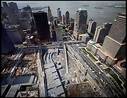 Manhattan, New York, USA, 20060719: Ground Zero and the Financial District seen from the 7 World Trade Center. Photo: Orjan F. Ellingvag/ Dagens Naringsliv/ Corbis