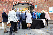 Security checks in place at the Princess Mary Gate Entrance prior to the October Finale meeting at York Racecourse, York, United Kingdom on 13 October 2018. Pic Mick Atkins