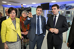 © Licensed to London News Pictures . 05/02/2016 . Manchester , UK . THERESA GRIFFIN MEP , <br /> JULIE WARD MEP , JUERGEN MAIER CEO of Siemens and ANDY BURNHAM MP , on a tour of the facility .Labour in for Britain pro-EU campaign event at the Siemens technology campus in South Manchester . Photo credit : Joel Goodman/LNP