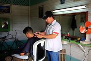 Barbershop in Puerto Padre, Las Tunas, Cuba.