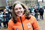 Officiele huldiging van de Olympische en Paralympische medaillewinnaars in de Grote Kerk of St. Jacobskerk, Den Haag.<br /> <br /> op de foto:  Michelle Dekker