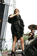 CHICAGO, IL - AUGUST 8: Lykke Li performs at 2009 Lollapalooza Music Festival on August 8, 2009 in Grant Park, Chicago, Illinois. Photo by Bryan Rinnert/3Sight Photography