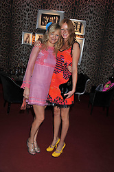 Left to right, ALEXIA INGE and OLIVIA INGE at a party hosted by Roberto Cavalli to celebrate his new Boutique's opening at 22 Sloane Street, London followed by a party at Battersea Power Station, London SW8 on 17th September 2011.