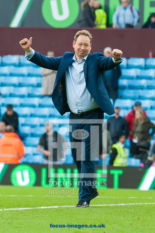 Hull City manager Leonid Slutsky salutes fans following the Sky Bet Championship match at Villa Park, Birmingham<br /> Picture by Matt Wilkinson/Focus Images Ltd 07814 960751<br /> 05/08/2017