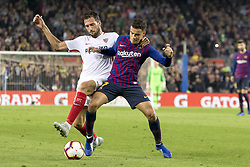 October 20, 2018 - Barcelona, Catalonia, Spain - Coutinho during the spanish league La Liga match between FC Barcelona and Sevilla FC at Camp Nou Stadium in Barcelona, Catalonia, Spain on October 20, 2018  (Credit Image: © Miquel Llop/NurPhoto via ZUMA Press)
