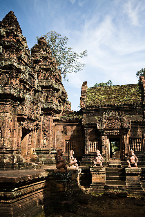 Banteay Srei temple. Angkor, Siem Reap, Cambodia.