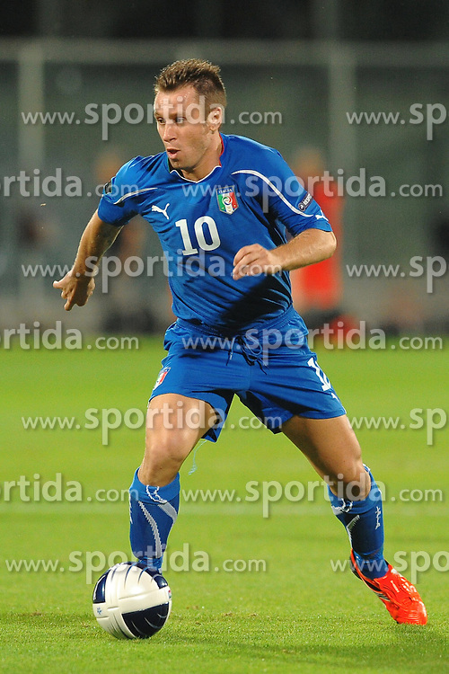 07.09.2010, Stadio Artemio Franchi, Florenz, ITA, UEFA 2012 Qualifier, Italia v Faer Oer, im Bild Antonio CASSANO Italia.EXPA Pictures © 2010, PhotoCredit: EXPA/ InsideFoto/ Andrea Staccioli *** ATTENTION *** FOR AUSTRIA AND SLOVENIA USE ONLY! / SPORTIDA PHOTO AGENCY