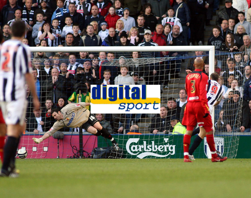 Photo: Mark Stephenson/Richard Lane Photography. <br /> West Bromwich Albion v Watford. Coca-Cola Championship. 12/04/2008. West Brom's Roman Bednar scores but its off side