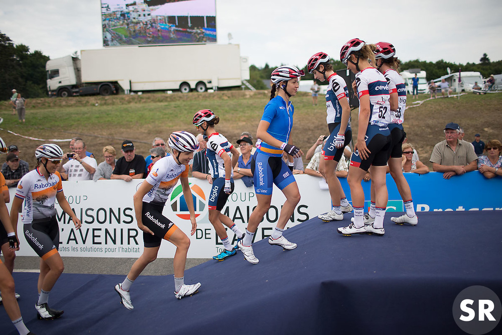 the 121.5 km road race of the UCI Women's World Tour's 2016 Grand Prix Plouay women's road cycling race on August 27, 2016 in Plouay, France. (Photo by Balint Hamvas/Velofocus)