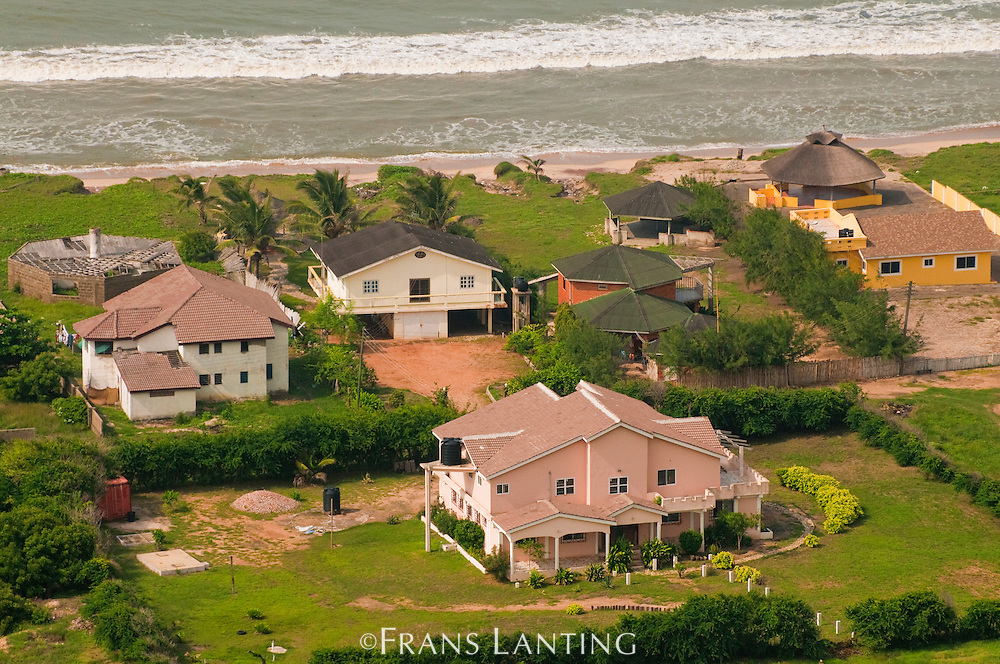 Beachfront homes for wealthy people, Accra, Ghana