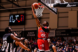 Justin Gray of Bristol Flyers scores 2 points - Photo mandatory by-line: Robbie Stephenson/JMP - 01/03/2019 - BASKETBALL - Eagles Community Arena - Newcastle upon Tyne, England - Newcastle Eagles v Bristol Flyers - British Basketball League Championship